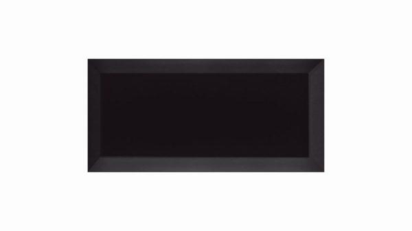 Bisel Brillo Black Glossy 10x20cm