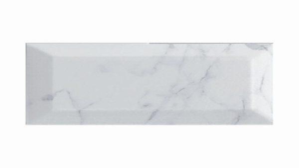 Bisel Brillo Carrara Glossy 10x30cm