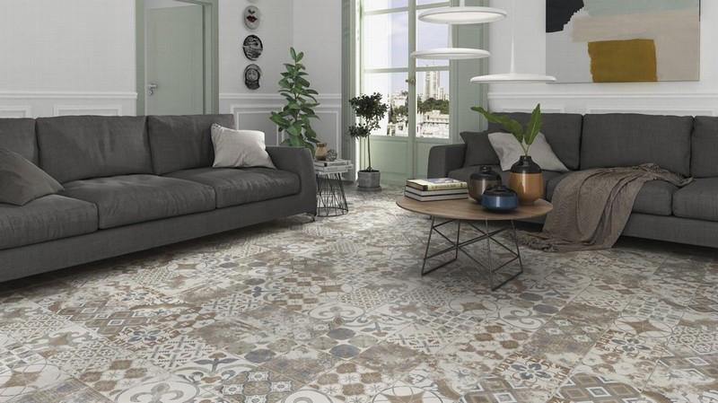 Moroccan Patchwork Floor