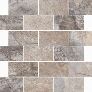 Slate Effect Mosaic Grey Matt 33x38cm