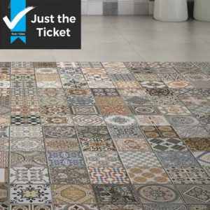 Spanish Patchwork Wall and Floor Decor