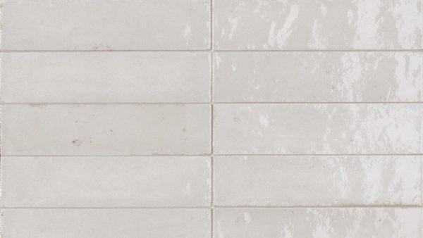 Lume White Glossy Wall Tiles 6x24cm