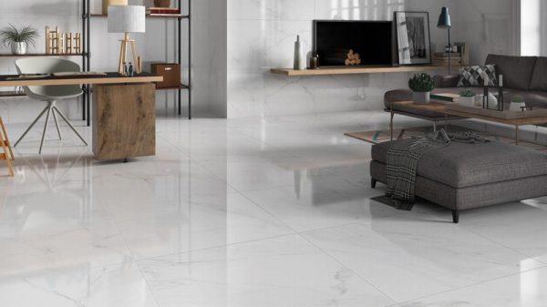 White Marble Effect Rectified Matt 60x60cm