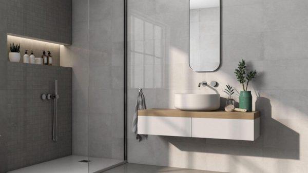 Concrete Blanco Polished Porcelain 30x60cm