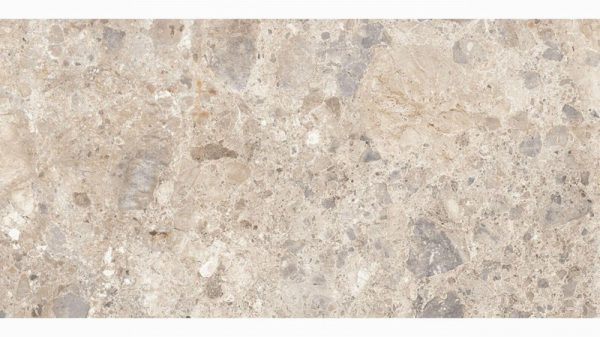 A beige marble stone effect tile.