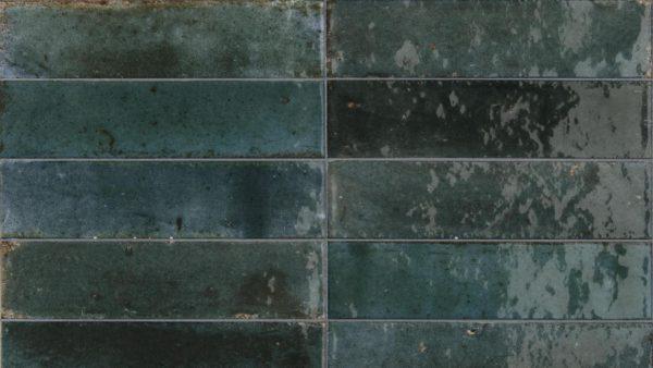 Lume Blue Glossy Wall Tiles 6x24cm