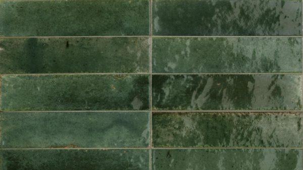 Lume Green Glossy Wall Tiles 6x24cm