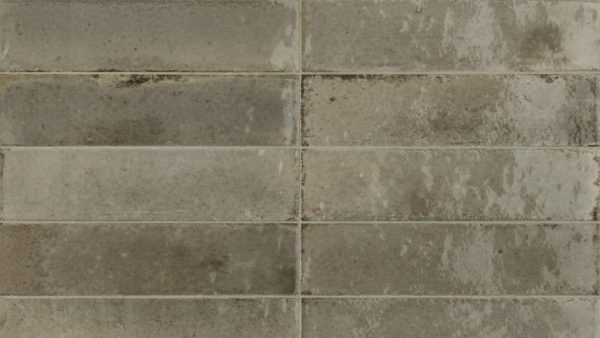 Lume Greige Glossy Wall Tiles 6x24cm